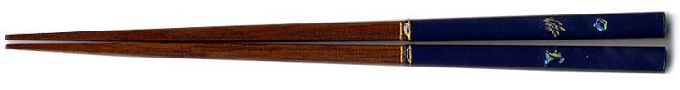 先角月うさぎ箸(青)