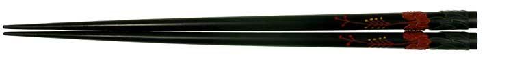 琉球漆器箸(黒)