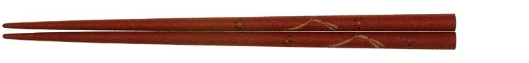輪島乾漆蒔箸うさぎ赤